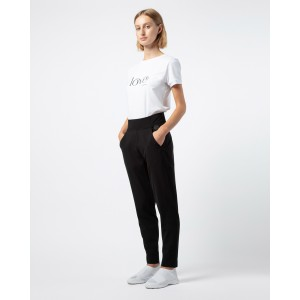 Straight stretch jersey pants