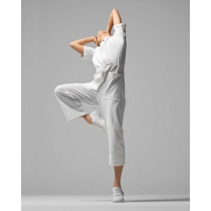 Jumpsuit in stretch pique
