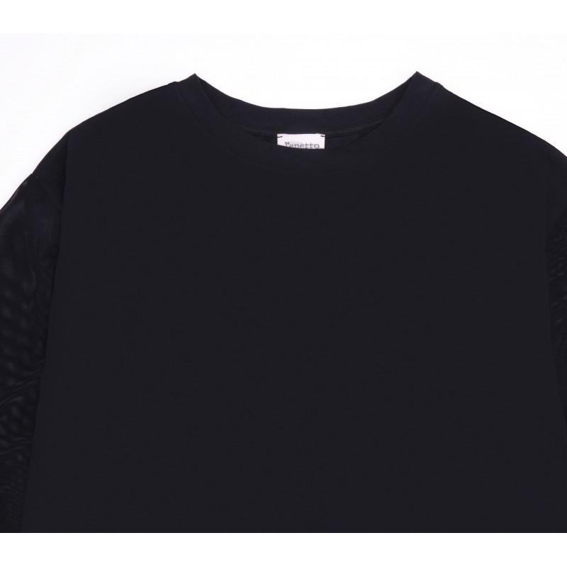 Fishnet ¾ sleeves t-shirt