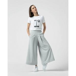 Large stretch jersey 7/8 pants