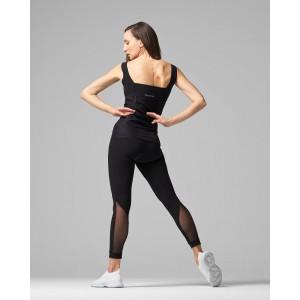 High-stretch fishnet leggings