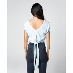 Short sleeves top to tie