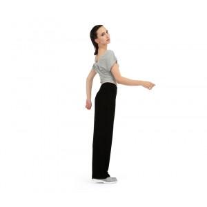 Viscose jazz pants with fold over waistband