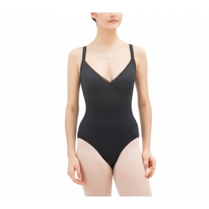 Wrap-over leotard