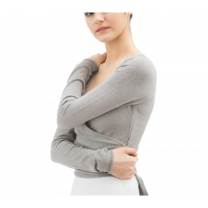 Long sleeved wrap-over