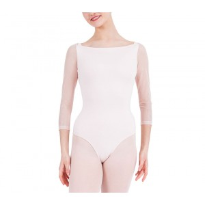 3/4 sleeves leotard with lace